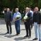 Цветя пред паметника на Христо Ботев в град Гоце Делчев, в деня на неговата гибел