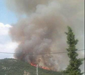 Пожар в гората над Неа Ираклица край Кавала   Πυρκαγιά στη Νέα Ηρακλείτσα Καβάλας