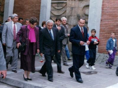 Спомен от единственото посещение на покойния президент Желю Желев в Гоце Делчев