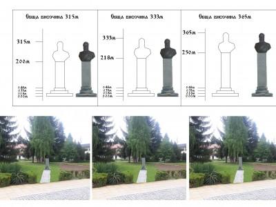 Така ще изглежда паметникът на Христо Ботев в гр. Гоце Делчев