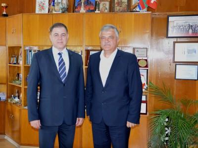 Министър Ненчев се срещна с кмета на Гоце Делчев