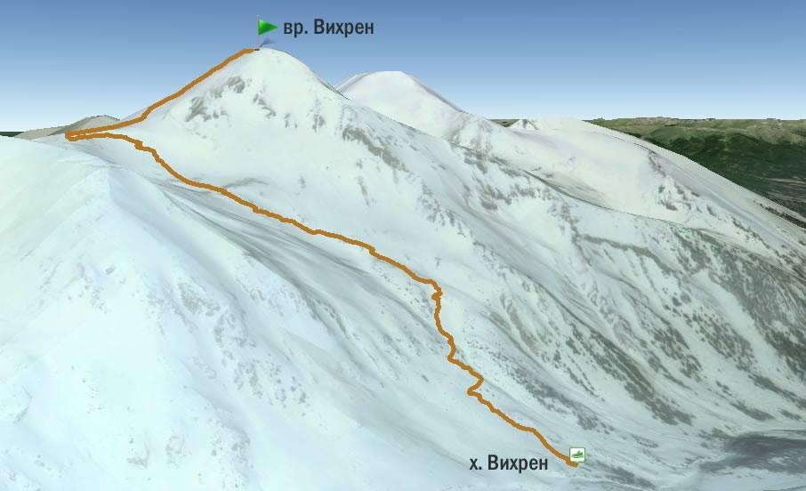 Хижа-Вихрен-връх-Вихрен