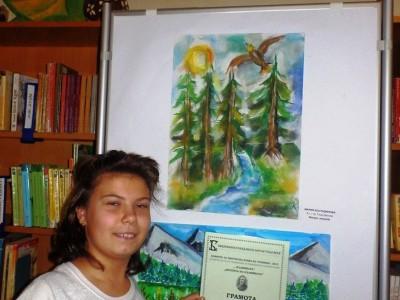 Поредна награда за талантлива ученичка на художника Николай Маринов oт Гоце Делчев