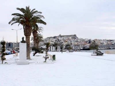 Снегът в Гоце Делчев този път дойде от Кавала