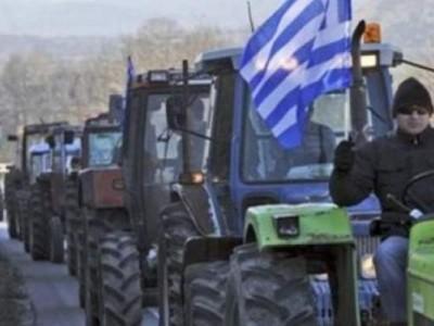 Протестна колона от трактори и гръцки земеделци пътува към ГКПП Илинден