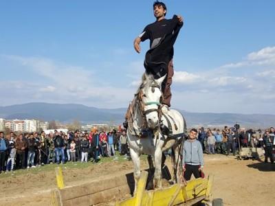 Гавра с кон на Тодоровден в Гоце Делчев