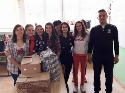 Благотворителна акция на млади хора от Хаджидимово за техни връстници в с. Първомай