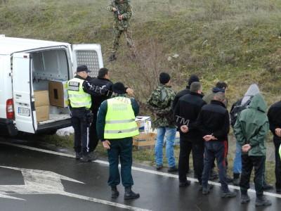 Съвместно учение край границата при ГККП Илинден
