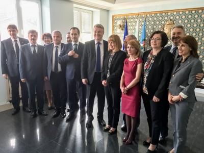Кметът на Гоце Делчев участва в работна среща с председателя на Комитета на регионите в Европа Марку Маркуля