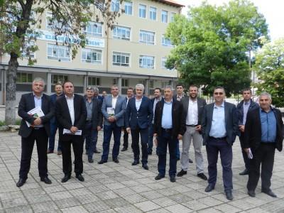 Целият общински съвет и управата на общината гостуваха на гимназията в Гоце Делчев за патронния й празник