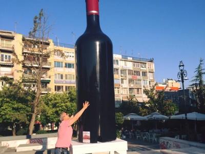 Фестивал на виното в Драма черпи гостите си от 1000 литрова бутилка