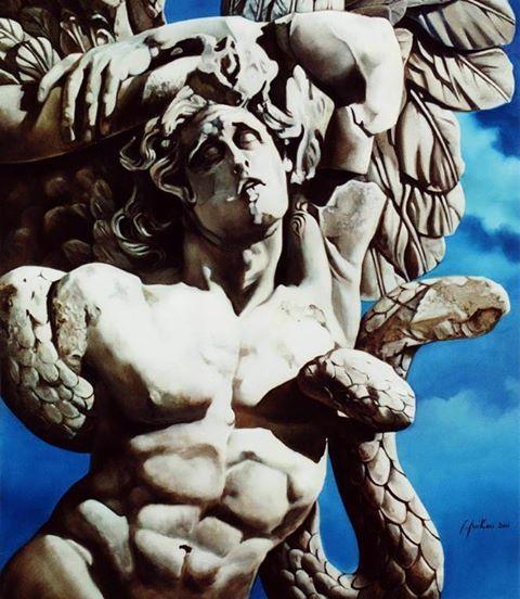 Τιτάνας - A Titan - 160x140 cm -ελαιογραφία -oil on canvas- 2011 (Μυθολογικός Κύκλος -Mythological Cycle )
