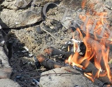 Пожар унищожи вила на Попови ливади