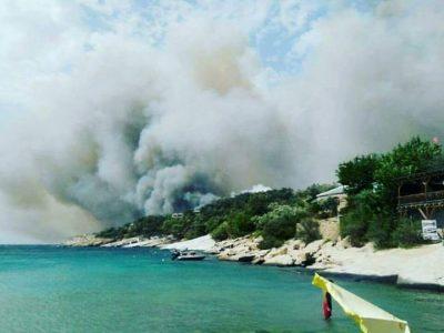 Четири пожара на остров Тасос