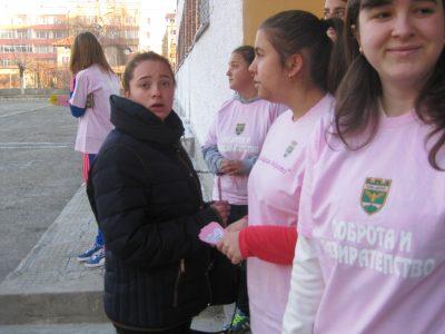 """Професионалната гимназия по селско стопанство в град Гоце Делчев и други училища отбелязаха """"Деня на розовата фланелка"""""""
