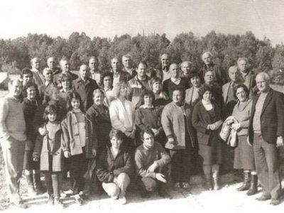Туристи от 90-те години на миналия век в Гоце Делчев