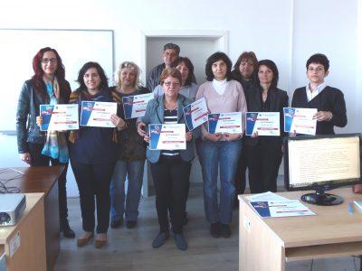 """Още една група приключи успешно обучението си в курса """"Офис пакет за напреднали"""", организиран от Сдружението на предприемачите в Гоце Делчев"""