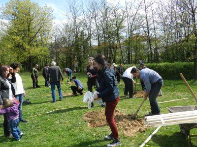 Софиянци с неврокопски корен засадиха дръвчета в родния си град