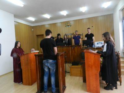 Импровизиран съдебен процес в Гоце Делчев, във връзка с Деня на българската конституция