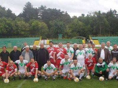 Мач на ветераните на стадиона в град Гоце Делчев