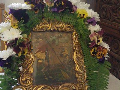 Чудотворната икона на Свети Георги в манастира край Хаджидимово