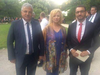 Кметът на Гоце Делчев също поздрави Симеон Сакскобургготски в двореца Врана