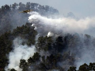 Голям пожар унищожава 350 декара край село Стара Кресна