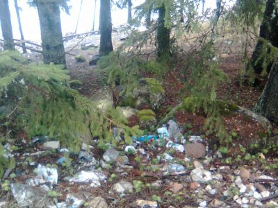 Над 200 тона строителни отпадъци събраха горски служители в горите на Югозапада