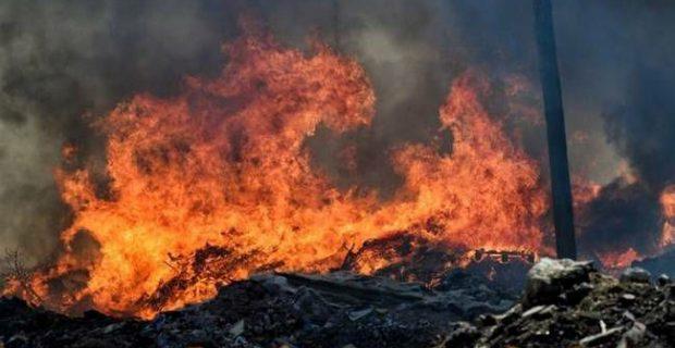 Пожари горят край Драма и Кавала
