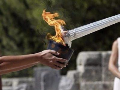 Олимпийският факел за 23-те зимни олимпийски игри пристига в Драма
