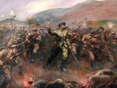 За освобождението на Неврокоп важен е боят на вр. Костадин, край село Сатовча, който е увековечен в художествено произведение
