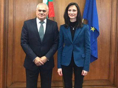 Еврокомисарят Мария Габриел: Ценя готовността на министерството на вътрешните работи и министър Валентин Радев да работим заедно по въпросите на киберсигурността и борбата с нелегалното съдържание в интернет