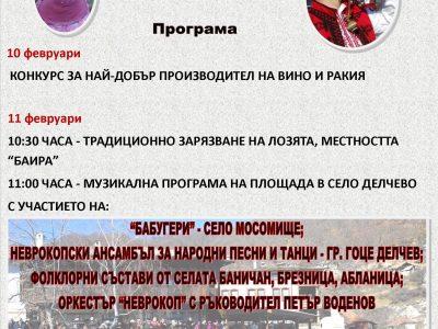 Вицепрезидентът Илиана Йотова ще зареже заедно с кмета Владимир Москов лозята край Гоце Делчев
