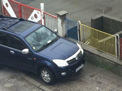 Така паркират важни господа в град Гоце Делчев
