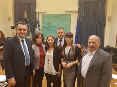 Народните представители Богдан Боцев, Даниела Савеклиева и Маргарита Николова са на посещение в гръцкия парламент
