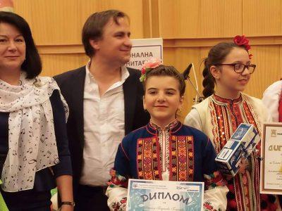 Малката певица от Гоце Делчев Даниела Георгиева направи професионален запис в студиото на БНР Радио Благоевград