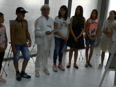 Една изложба на талантливите ученици на художника Николай Маринов в град Гоце Делчев