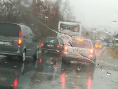 Тежка верижна катастрофа край Сандански с три тира, два автобуса, камион и микробус