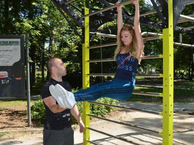 Нови уреди за фитнес на открито в парка на Гоце Делчев