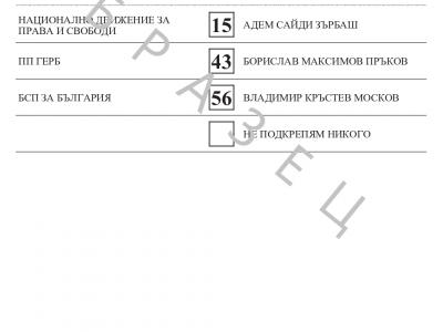 ОИК Гоце Делчев одобри образците на бюлетините, с които ще се гласува на 27 октомври