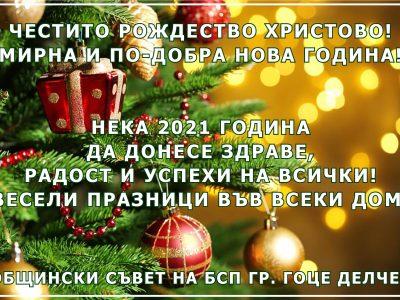 Общински съвет на БСП Ви желае мирна и по-добра Нова година