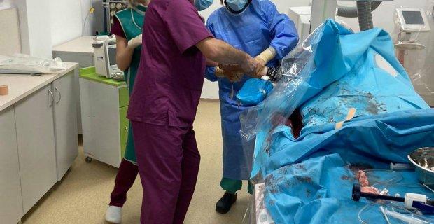 Първа операция и първи спасен живот в отделението по инвазивна кардиология в болницата на гр. Гоце Делчев