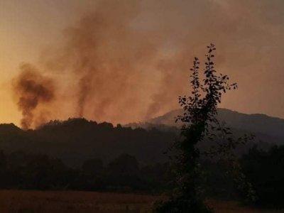 И военни се включиха в гасенето на горския пожар край село Петрово